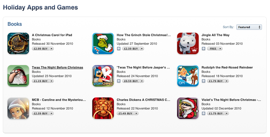 """Apple Features """"Holiday Apps & Games"""" In App Store"""
