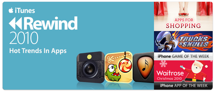 New Section In App Store: iTunes Rewind 2010 - Hot Trends In Apps