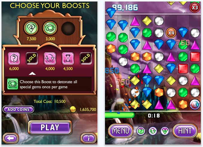 Bejeweled 2 Updated: Adds In-App Coin Purchasing