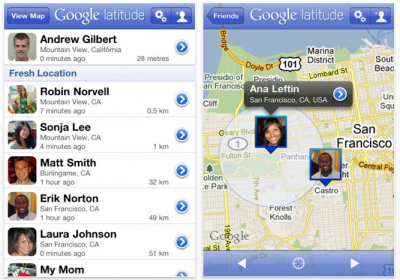 Google Latitude: Available In The App Store Now