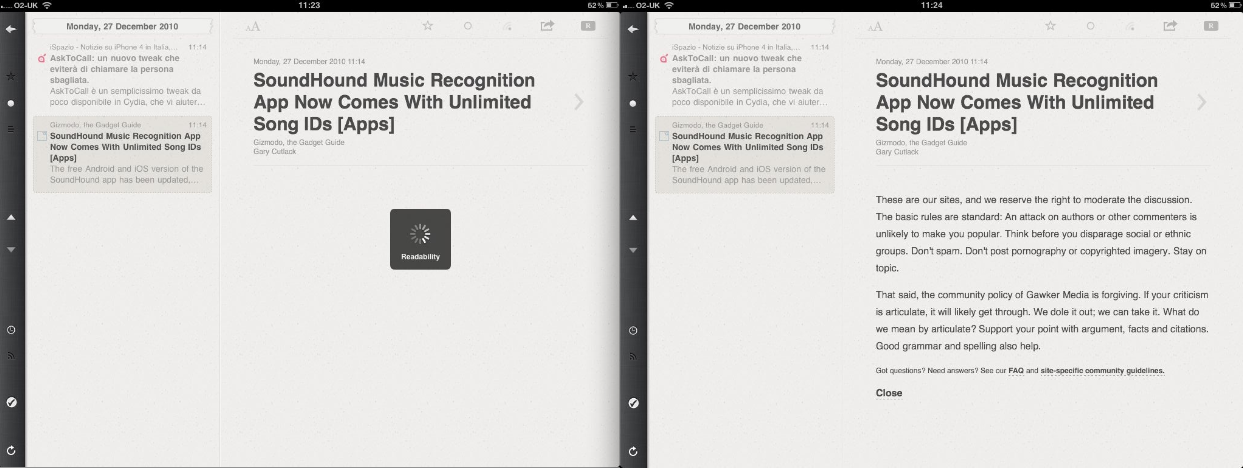 Reeder For iPad Updated: Can Now Fetch Full Articles From Any Site