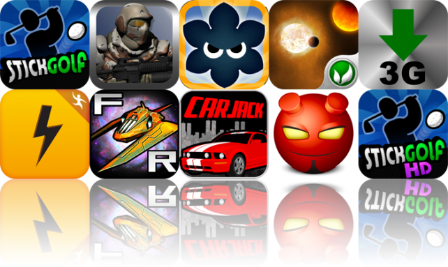 iPhone And iPad Apps Gone Free: Stick Golf, The Infinity Project, Big Bad Flower, And More