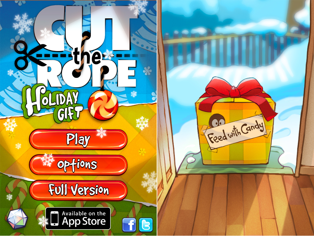 Cut The Rope: Holiday Gift Is Now Available In The App Store
