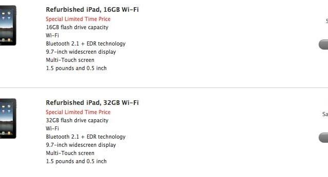 Apple Offers $100 Savings On Refurbished iPads