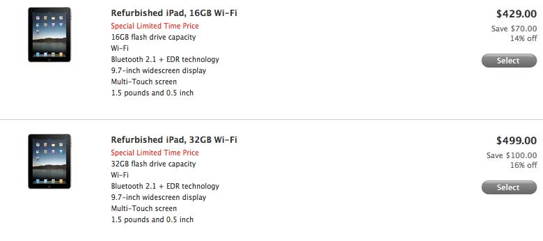 Apple Offers $100 Savings On Refurbished iPads