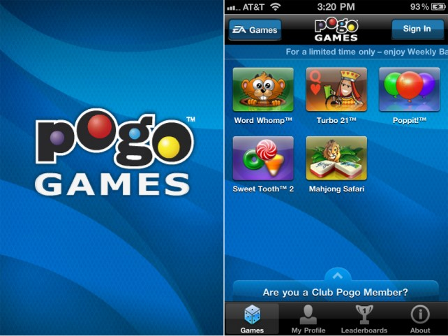 "EA Brings ""5 Great Pogo Games In 1 Free App"" To The iPhone And iPod Touch"