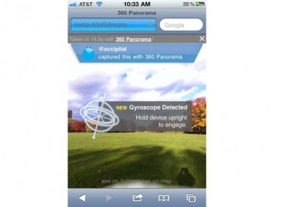 Gyroscope Gives Mobile Safari Augmented Reality Capabilities