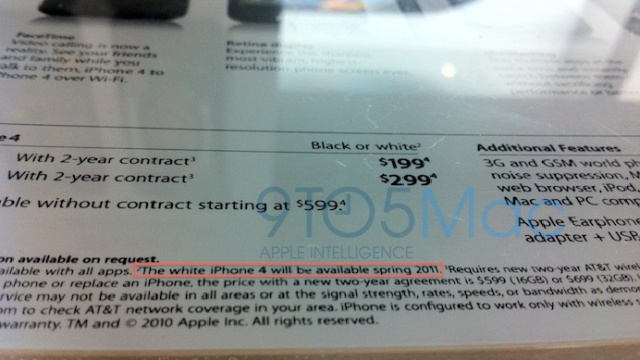 Apple: White iPhone 4 Coming Spring 2011