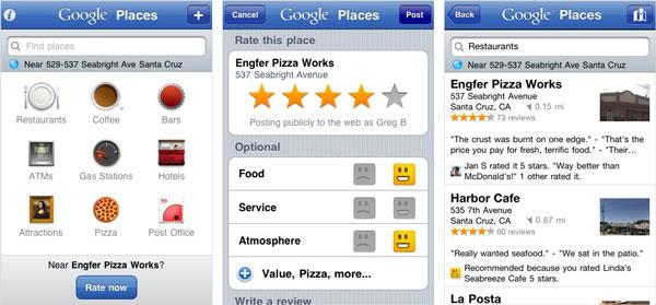 Google Places App Joins Maturing Market