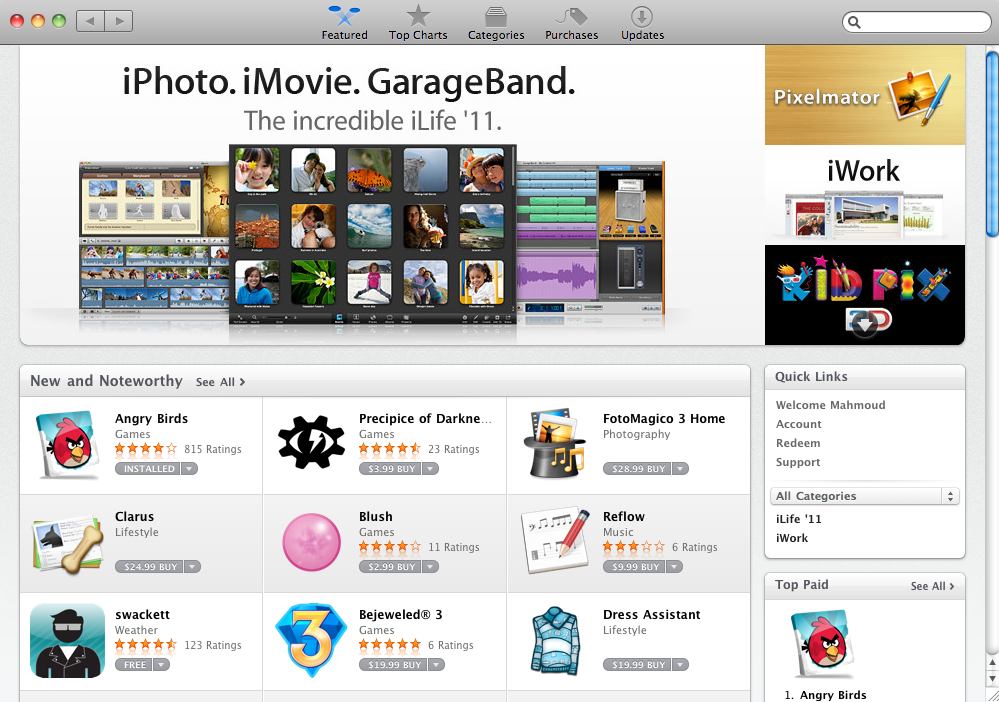 Mac App Store: One Million Apps Downloaded On The First Day