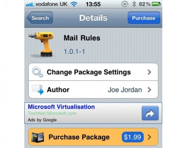 """Jailbreak Only: Mail Rules - Brings """"Rules"""" To Your Mail App"""