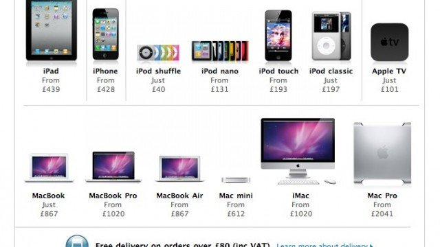 Apple's UK Online Store: New iDevice Prices As VAT Increases To 20 Percent