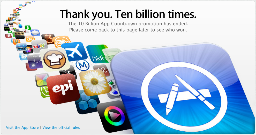 Apple's App Store Reaches 10 Billion Downloads
