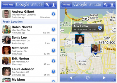 Google Latitude Updated, Now Supports iPhone 3G