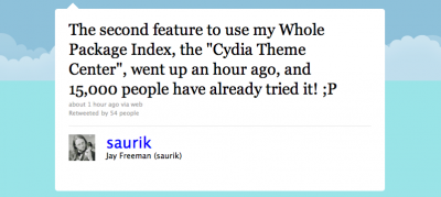 """Jailbreak Only: Cydia Gets A New Feature - """"Theme Center"""""""