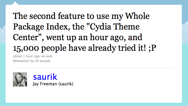 "Jailbreak Only: Cydia Gets A New Feature - ""Theme Center"""