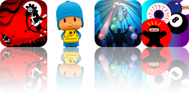 iPhone Apps Gone Free: Tap Studio Pro, Bowman Attack, Adventures Of A Round Object, And Pocoyize