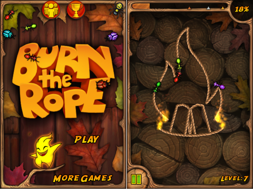 Burn The Rope Gets Its First Update: Burns More, Burns Better, And Burns Into Game Center