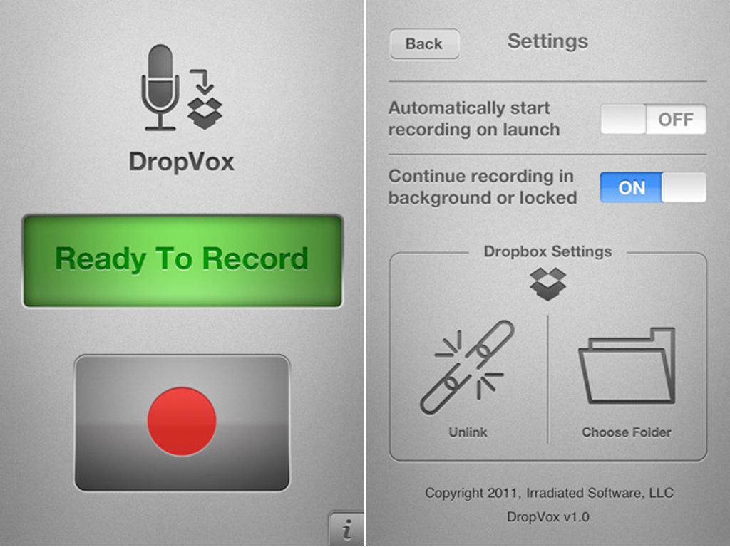 DropVox: Share Voice Memos To Your Dropbox Account Within Minutes
