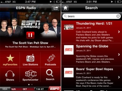 ESPN Radio Update Adds Searchable Audio, Background Play, And Additional Content