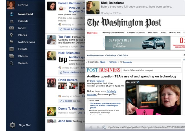 Facepad - Facebook For iPad: Guess Where The Inspiration Has Come From?