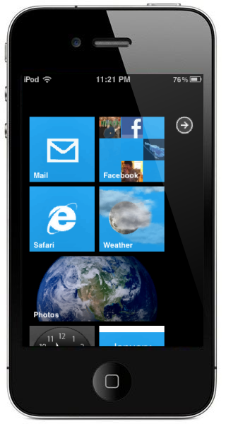 Jailbreak Only: New Theme Brings Windows Phone 7 Style Live Tiles To iOS
