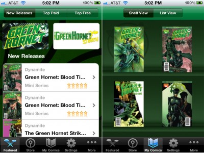 Green Hornet Comics Arrive For The iPad, iPhone, And iPod Touch
