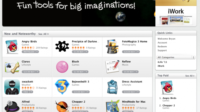 First Look: The Mac App Store