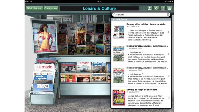 Le Kiosque For iPad: A Realtime, Three Dimensional French Newsstand