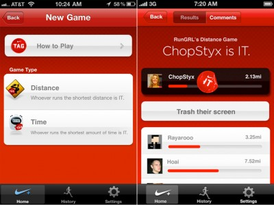 "Nike+ GPS Continues To Distance Itself With The Addition Of The Classic Game Of ""Tag"""