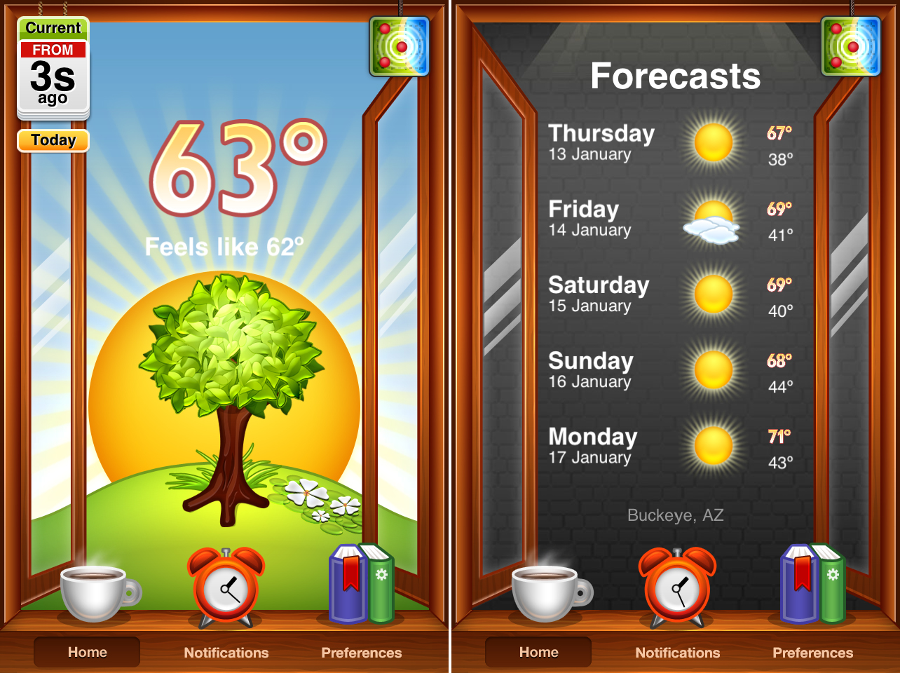 Outside - Visual Weather Forecast Gets Retina Graphics, Loses In-App Subscriptions
