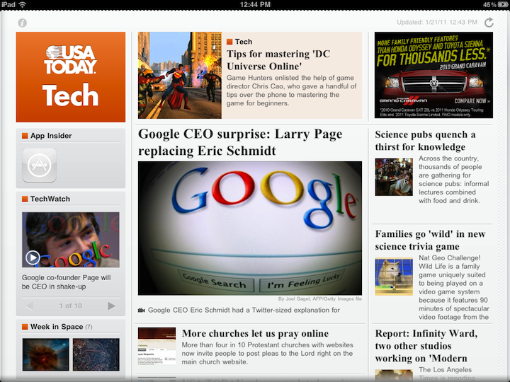 USA Today For iPad App Is Greatly Improved, But Not Quite Perfect