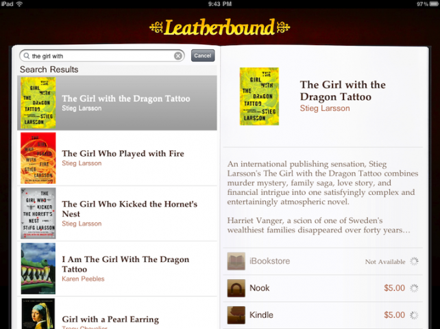 Leatherbound Makes Comparing E-Book Prices Easy