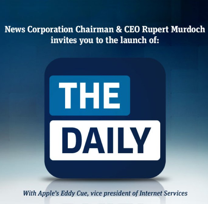 Apple & News Corp. Holding A Special Launch Event For The Daily On February 2