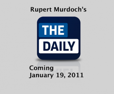 "Murdoch's ""The Daily"" Set For January 19th Debut"