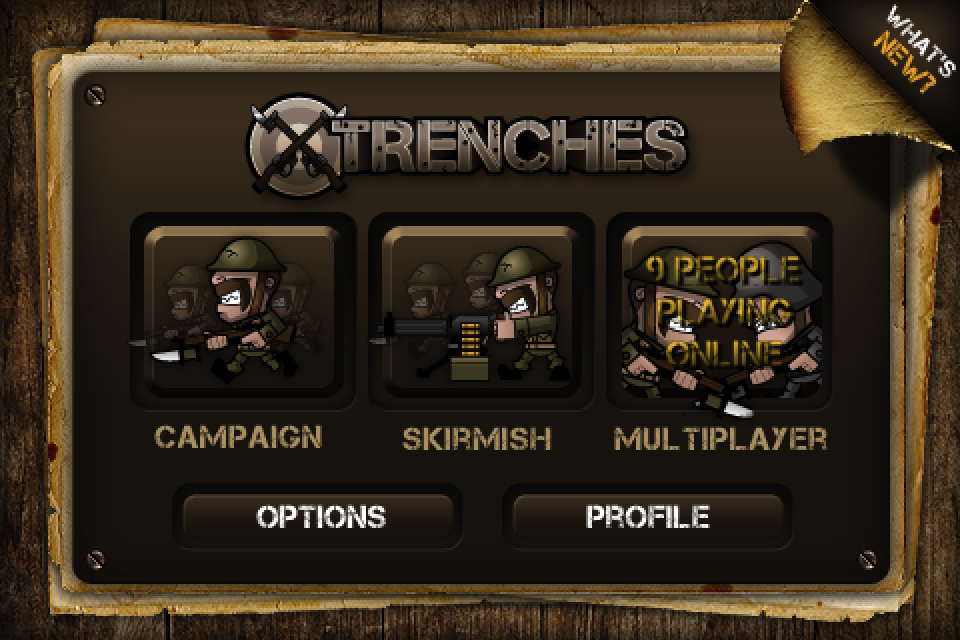 Storm The Trenches As A Team Or Opponents Through Game Center's Online Multiplayer