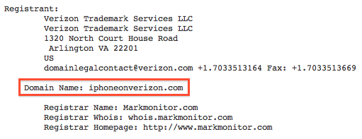 Unconfirmed: Verizon Treats Itself To iPhoneonVerizon.com Domain [Updated]