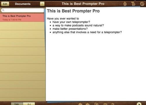 QuickAdvice: Turn Your iPad Into A Professional Teleprompter With Best Prompter Pro