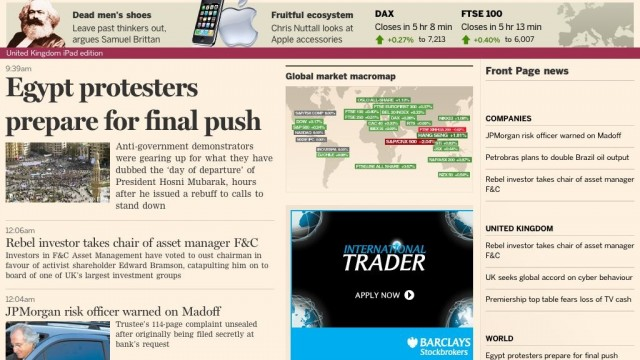 Apple's iPad Drives 20 Percent Of Financial Times' Online Subscriptions