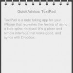 Turn Your iPhone Into A Notepad With Textpad