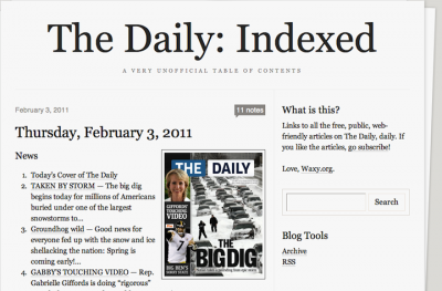 The Daily Indexed Site Comes To Life