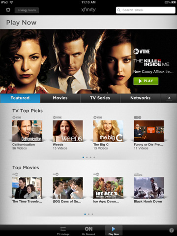 Comcast Xfinity For iPad Adds Video Streaming