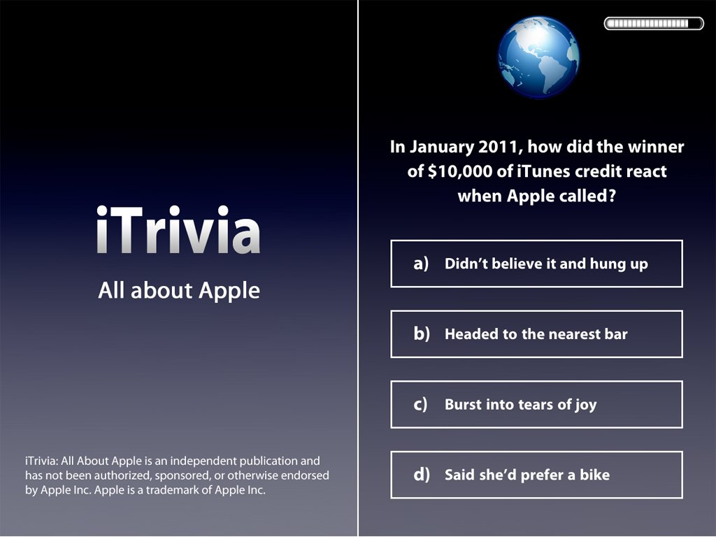 Test Your Knowledge Of All Things Apple By Playing iTrivia For iPad, iPhone, And iPod Touch