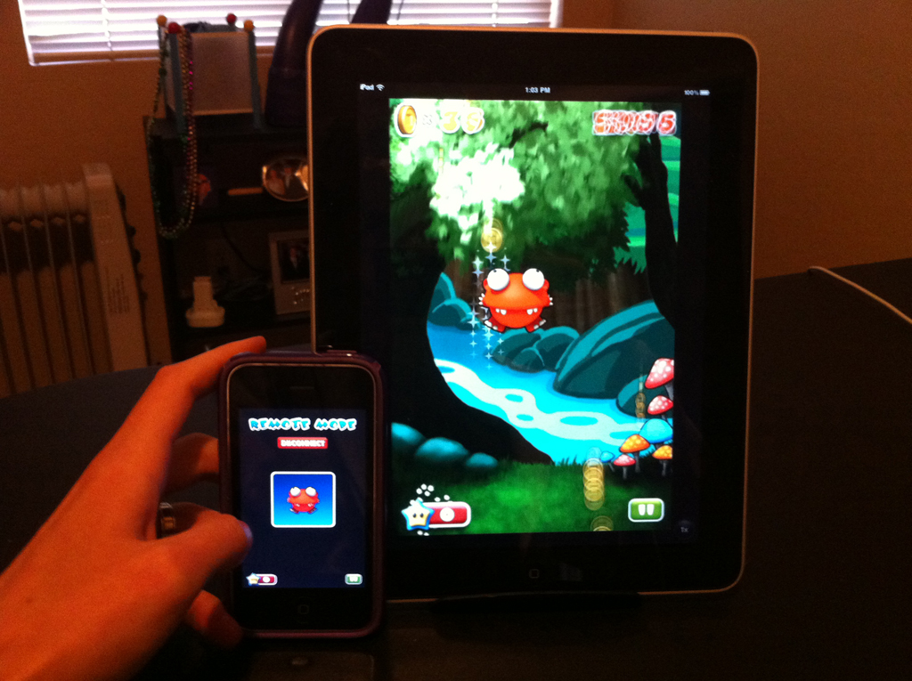 Mega Jump Gets Remote Control And TV-Out Support