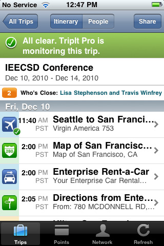 "TripIt - Travel Advisor (no ads) ""Automagically"" Builds Your Itinerary"