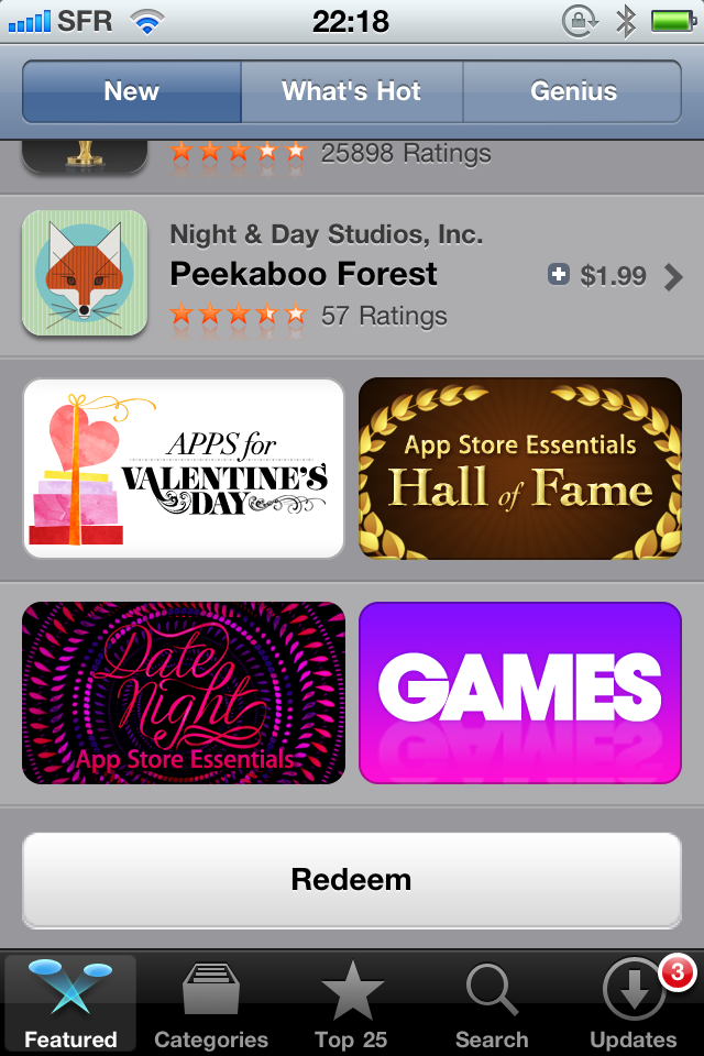 App Store Gets New Rating Stars & Redeem Button