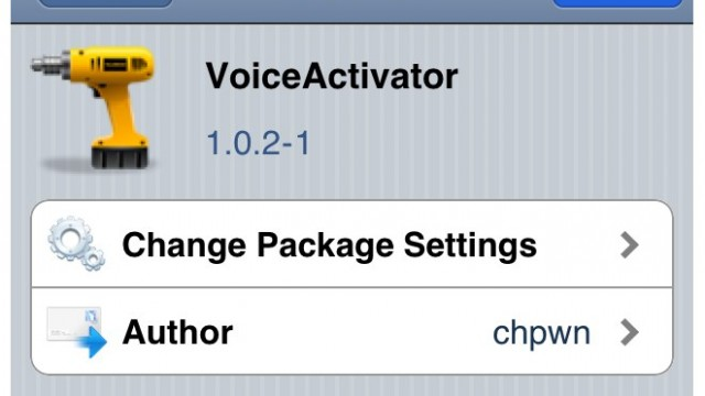 Jailbreak Only: VoiceActivator - Available Now In The Cydia Store!
