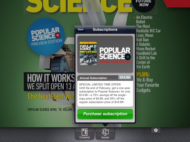 And So It Begins: iPad Magazine Apps Start Getting Updated With In-App Subscriptions