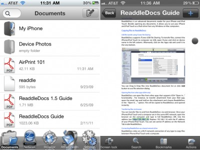 ReaddleDocs For iPhone Gains AirPrint Support, Expanded Storage Options, And More
