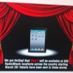 iPad 2 To Make It To RadioShack Shelves Tomorrow?